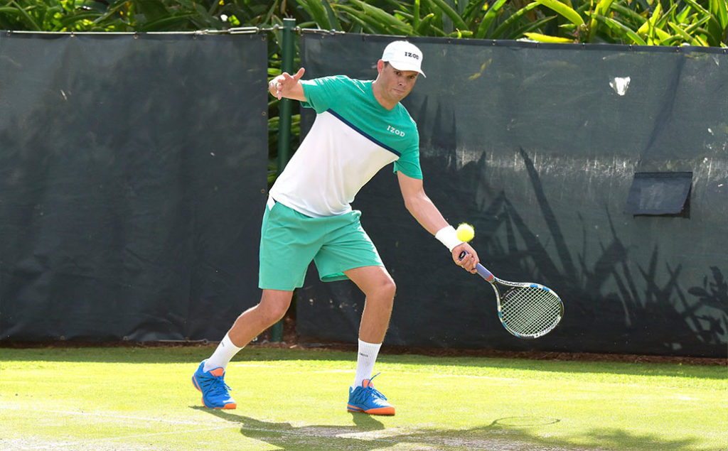 Bob Bryan at the Fore Love Tournament tennis match