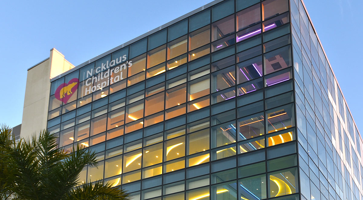 Nicklaus Children's Hospital exterior