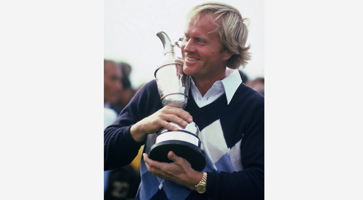 Jack Nicklaus at the British Open with Claret Jug