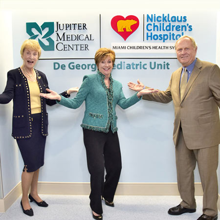 Opening the De George Pediatric Unit with Nicklaus Children's Hospital