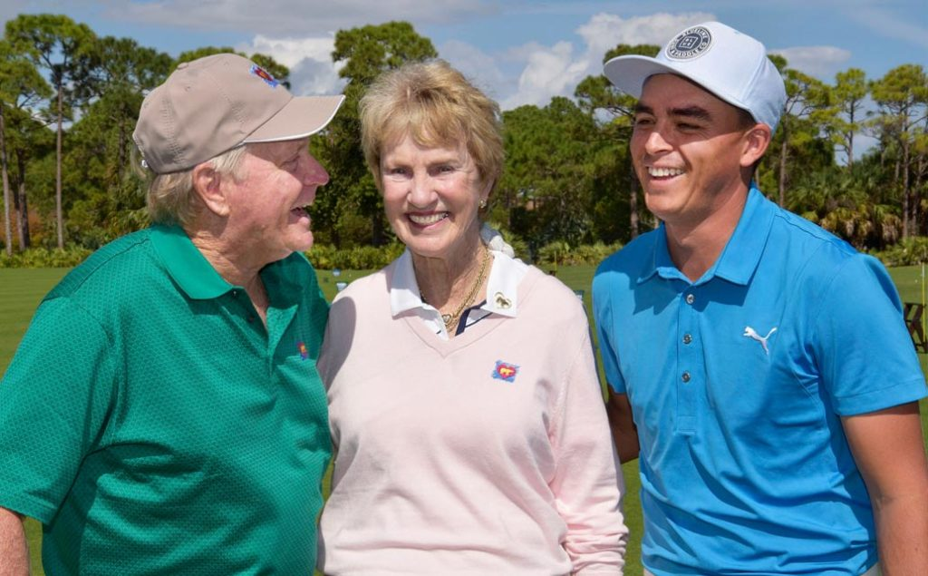 Jack and Barbara Nicklaus with Rickie Fowler