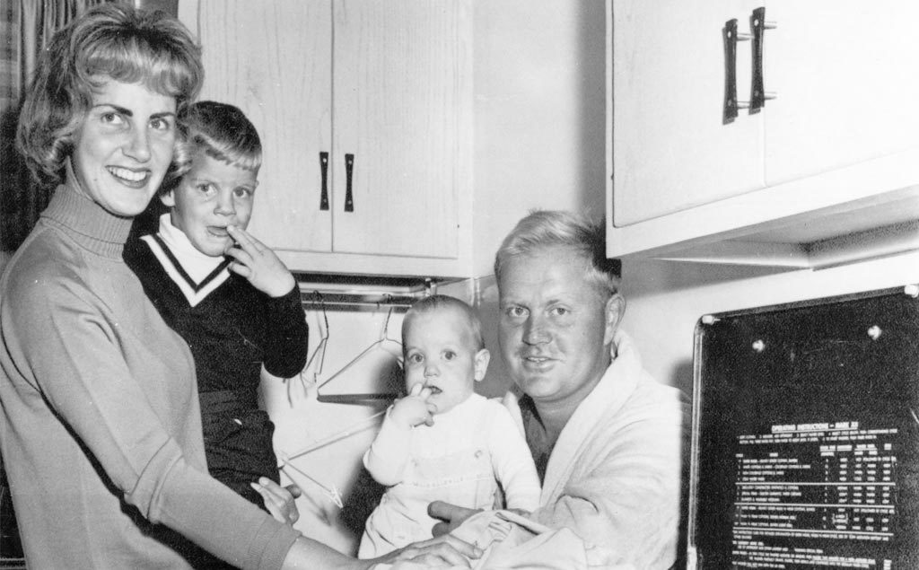 Jack Nicklaus and family in 1966