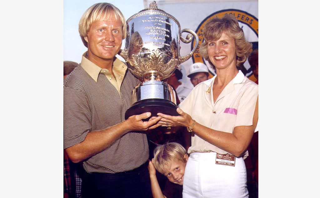 Jack Nicklaus with family at the 1980 PGA Championship