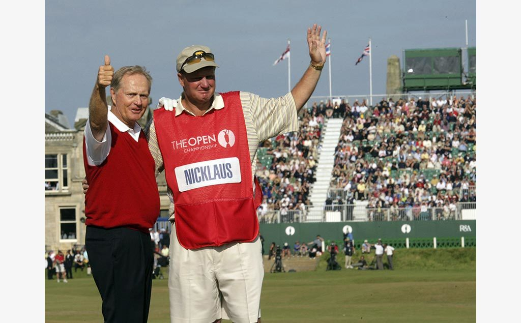 Jack and Steve Nicklaus at the 2005 British Open