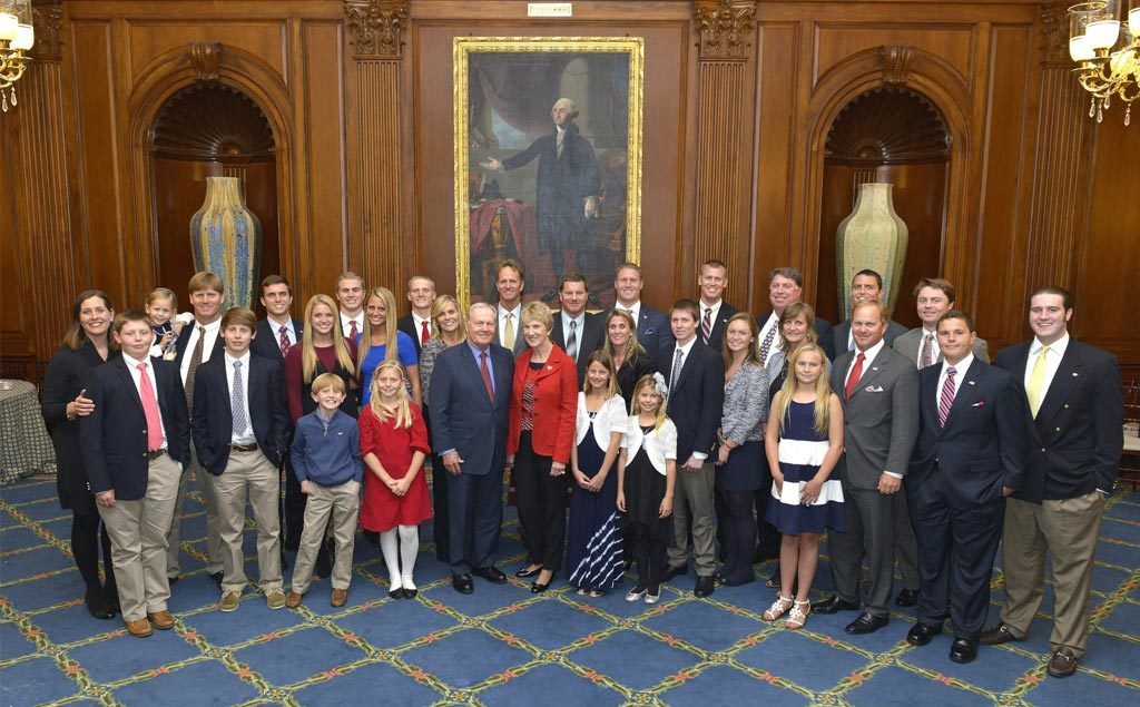 Jack Nicklaus with family receiving the Congressional Gold Medal